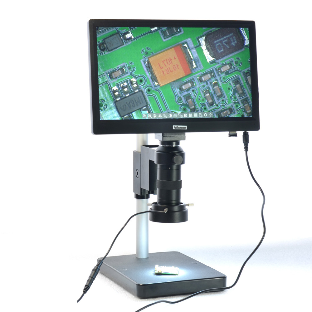 USB 5 0MP HD 11 1 inche Digital Industry Microscope Camera Table Stand 100X Zoon C