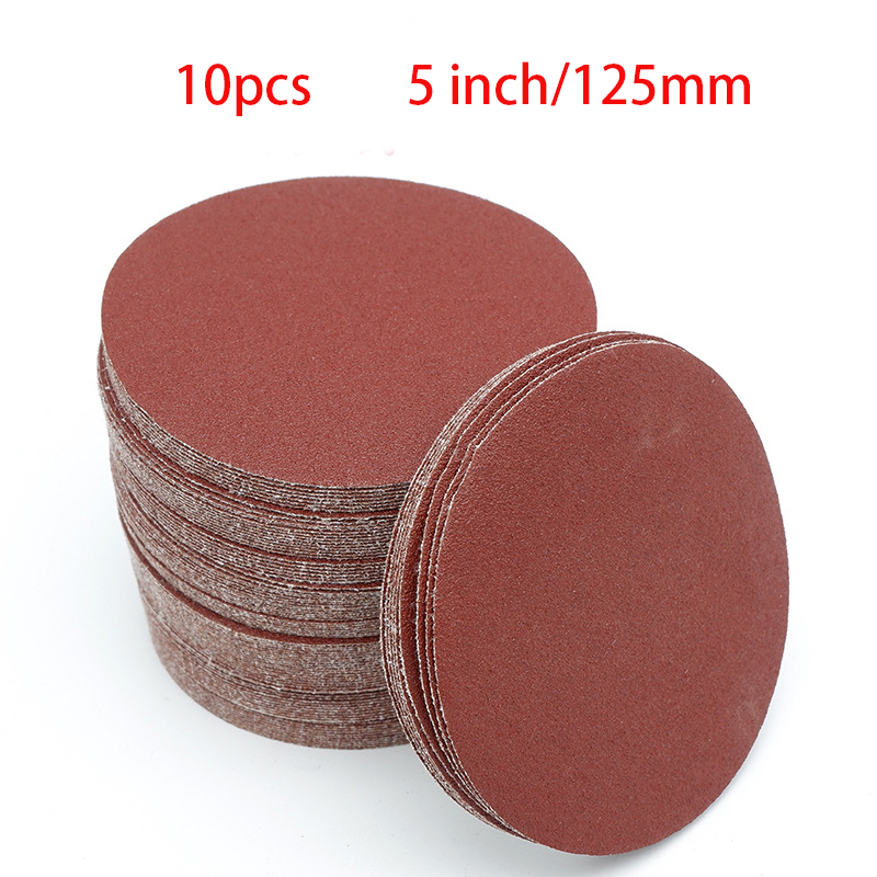 High Quality 10pcs 5inch 125mm Round Sandpaper Disk Sand Sheets Grit 40-2000 Hook And Loop Sanding Disc For Sander Grits NEW