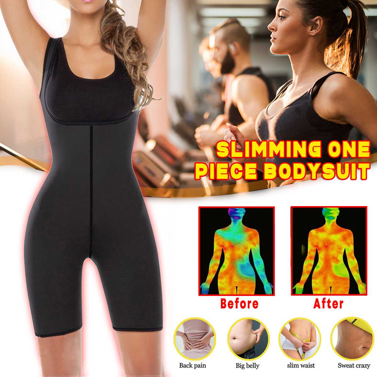Women Weight Loss Corset Shapewear Full Body Shaper Neoprene Sauna Suit Slimming Corset Full Bodysuit Waist Trainer Weight Loss