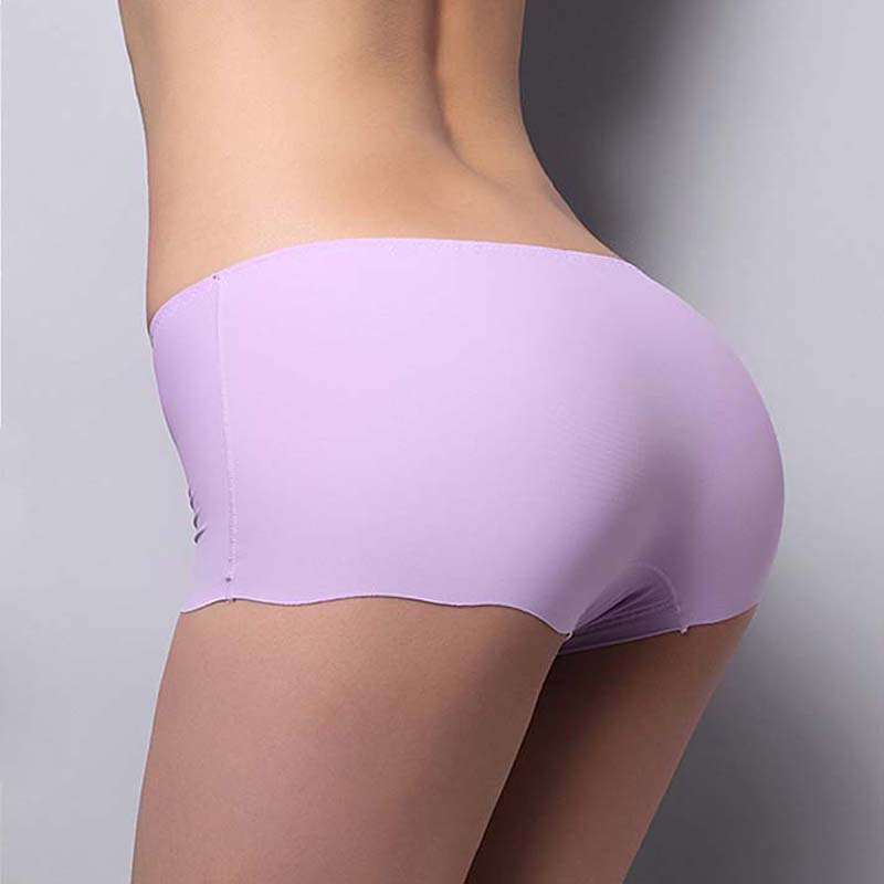 New Female Seamless Ice Silk Safety Pants Shorts Casual Women's Summer Pants Briefs Panties Boyshort Low Waist