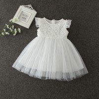 Summer Baby Girl Clothes Lace Princess Tutu Dress Infant Party Dresses Two Layer Thin Christening Gowns