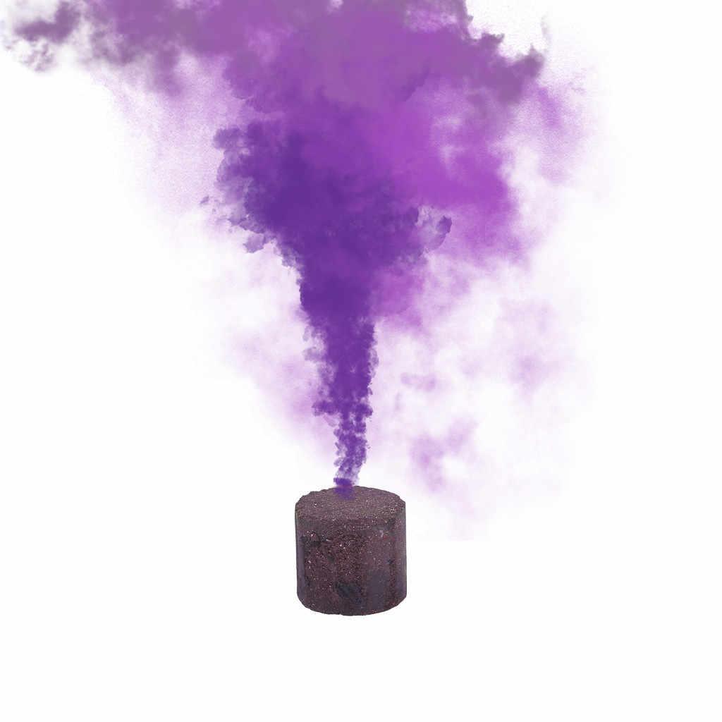 1pcs Torta Fumo Fumo Colorato Effetto Spettacolo Rotonda Bomb Stage Fotografia di Pronto Soccorso Del Partito Fase di Studio Photography Oggetti di Scena la Magia Della Luce
