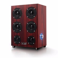 Fashionable Portable Wooden Computer Speakers Subwoofer 3D Full Four Channel Output 3 5mm Jack Home Use