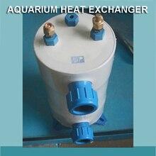 1HP теплообменник с морской водой/соленой водой, аквариумный испаритель для морепродуктов, рыб, прудов
