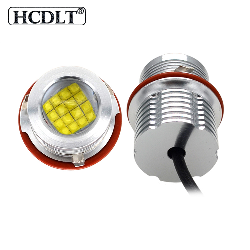 HCDLT GENUINE E39 80W LED DAYTIME RUNNING LIGHT E39 E60 <font><b>E53</b></font> E63 E83 X3 E87 <font><b>X5</b></font> LED MARKER KIT 6500K WHITE LED HALO RING MARKER image