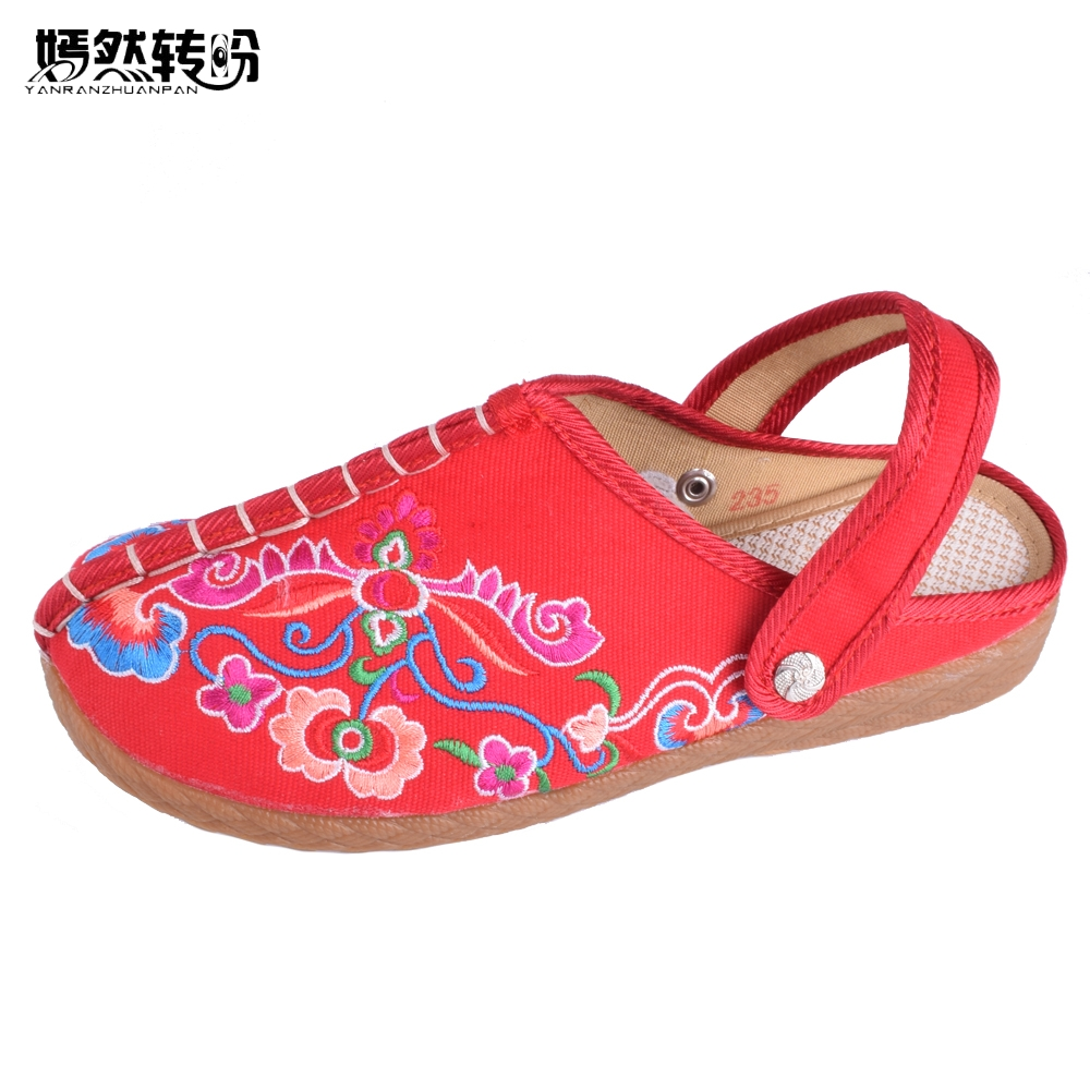 Spring Summer New Old Beijing Shoes Flowers Flat Shoes Women's Singles Cloth Canvas Embroidered Shoes Woman Walking Shoes vintage embroidery women flats chinese floral canvas embroidered shoes national old beijing cloth single dance soft flats