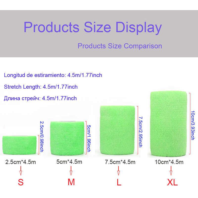 4.5m Renkli Elastoplast Elastik Bant COYOCO 2.2 Kez Elastik Spor Kendinden Yapışkanlı Bandaj Diz Parmak Ayak Bileği Palm
