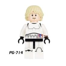 Single star wars super heroes Stormtrooper Luke Skywalker building blocks models bricks toys for children kits brinquedos menino