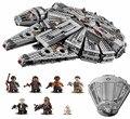 2016 Star Wars Millennium Falcon Outer Space Space Ship Building Blocks Modelo Brinquedos Presente de Natal para Crianças Compatível Legoe