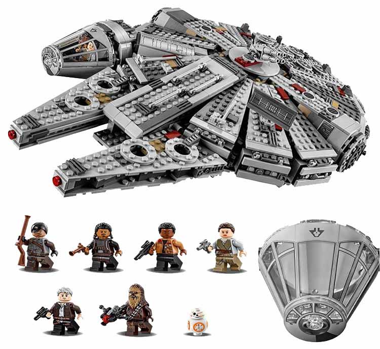 2016 Star Wars Millennium Falcon Outer Space Space Ship Building Blocks Model Toys Christmas Gift for Children Compatible Legoe