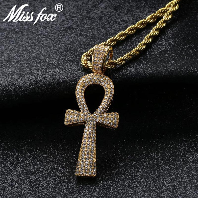 Iced Large Yellow /& Black Cubic 3D Layered Cross Pendant hip hop Necklace bling
