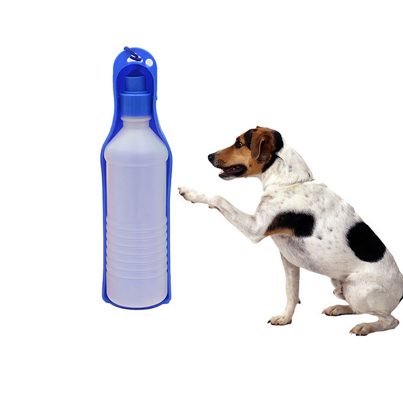 Hoomall 250ml Plastic Foldable Dog Water Bottle Kitten Puppy Dog Feeder Outdoor Travel Portable Bottle Cats Dogs Pet Accessories