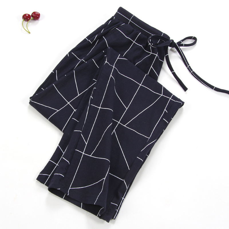 NEW Lady Sleep Bottoms 100% Cotton Pajama Pants Women Piyamas Trousers Woven Lounge Pants Comfortable Pantalon Breathable Pyjama