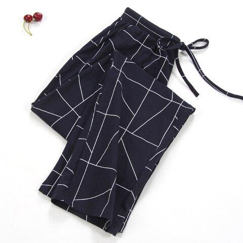NEW Lady Sleep Bottoms 100% Cotton Pajama Pants Women Piyamas Trousers Woven Lounge Pants Comfortable Pantalon Breathable Pyjama Pakistan