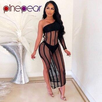 ca97828a6acb PinePear lazo cinturón Maxi Vestido Mujer 2019 verano Casual sin mangas  Bodycon lápiz vestidos ...
