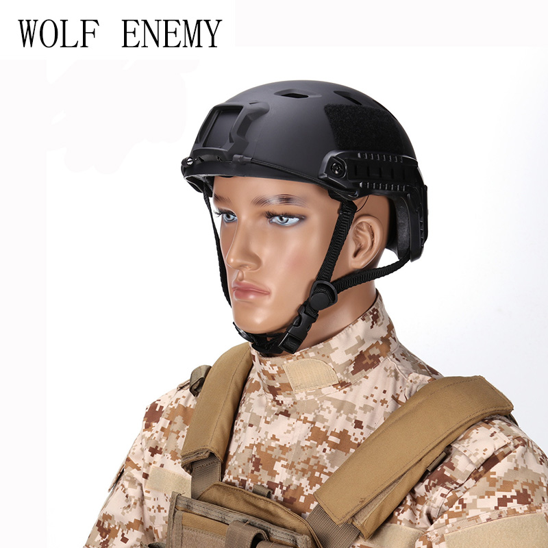 Tactical Helmet BJ Type Airsoft Paintball Gear Outdoor Sports Head Protective with Night Vision Sport Camera Mount