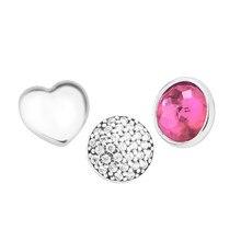 Mini breloques en argent Sterling 925, rubis CZ, pour colliers, médaillon flottant, accessoires de fabrication de bijoux