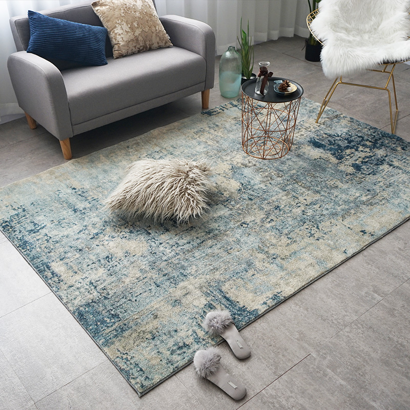 Tapis en coton doux et tapis pour la maison salon Style nordique moderne chevet chambre tapis tapis enfants chambre couloir étage Runner - 3