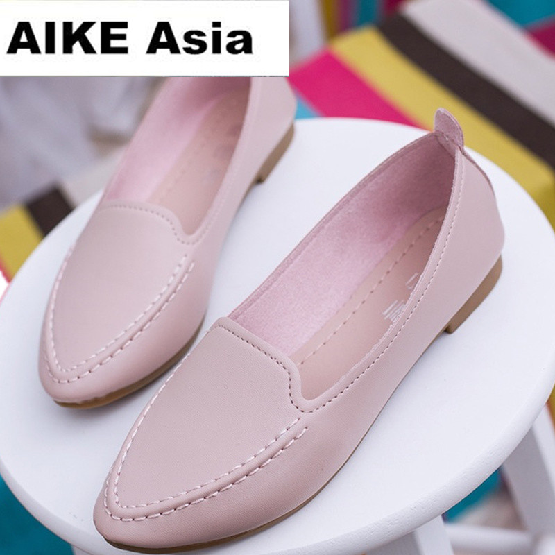 2018 New Arrival Soft Single Shoes Women Round toe Flats Fashion Women's Flats Ladies Brand Shoes Women Loafers