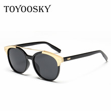 TOYOOSKY 2017 NEW luxury female SunGlasses star style Fashion Designer Brands For Women hot glasses Cateye oculos feminino de