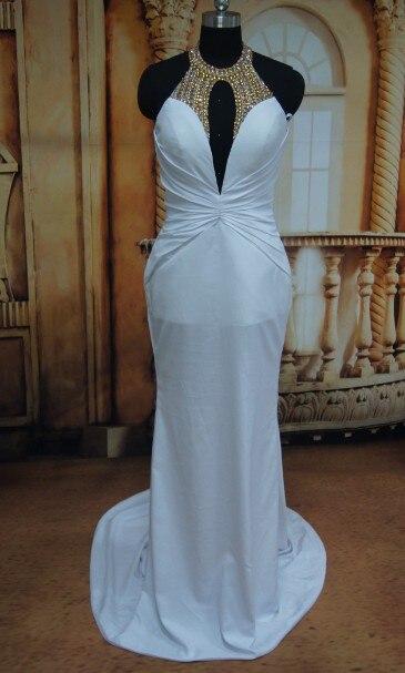 Festival de Cannes Cindy Crawford Deep V neckline Mermaid White ...