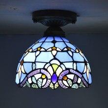 Stained Glass Tiffany Ceiling Light European Classic Baroque Living Room Lighting E27 110-240V