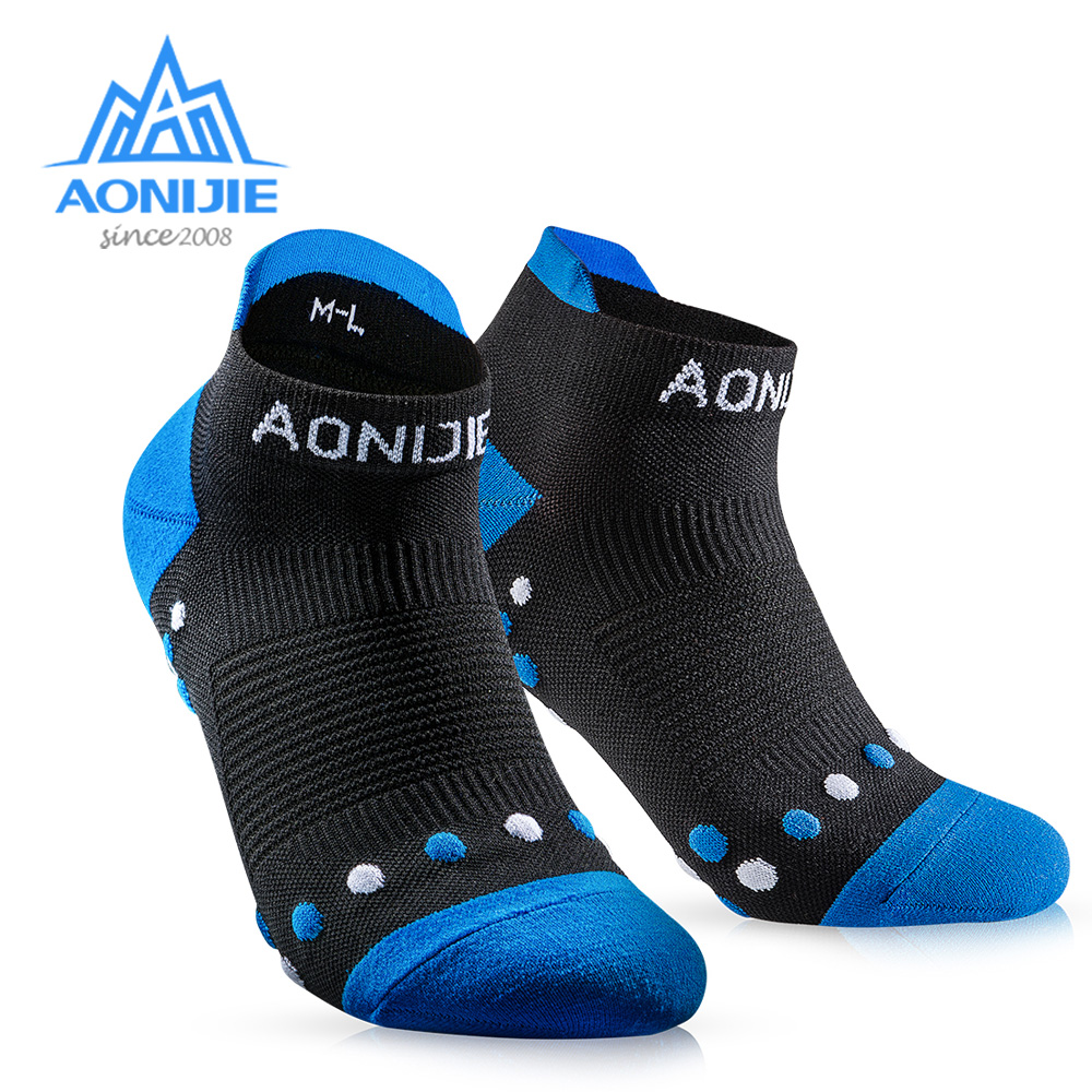 AONIJIE E4081 Outdoor Sports Running Athletic Performance Tab Training Cushion Quarter Compression Socks Heel Shield Cycling