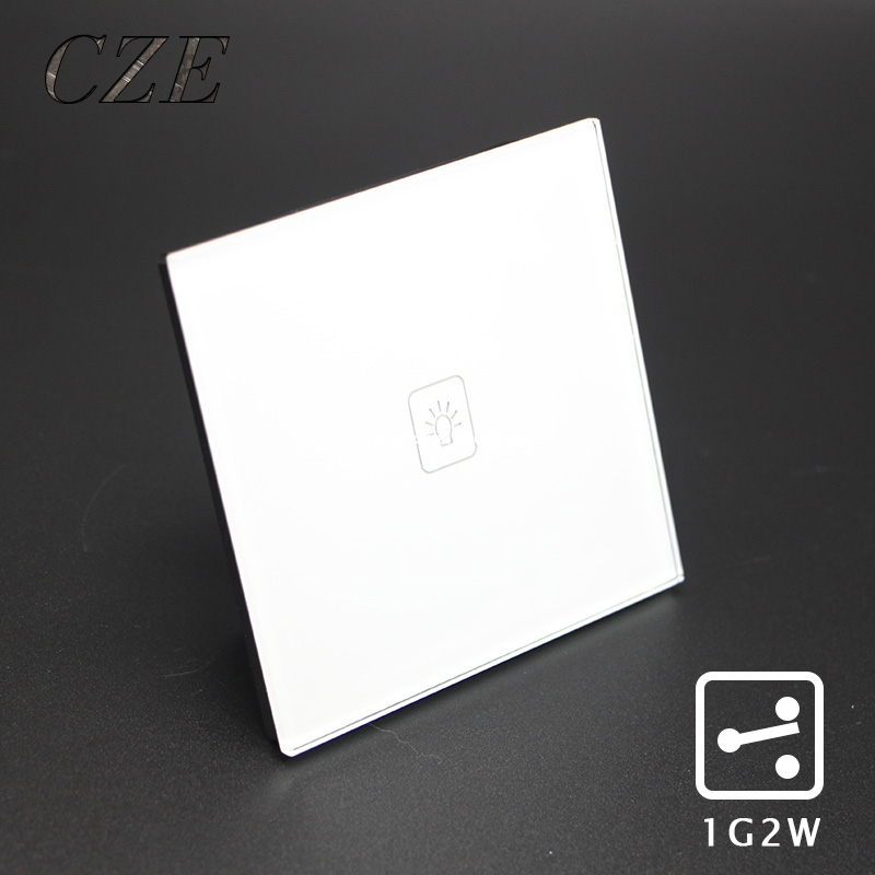 UK Standard 1 Gang 2 Way Touch Switch  Wall Light Controller Smart Home Automation smart home us au wall touch switch white crystal glass panel 1 gang 1 way power light wall touch switch used for led waterproof