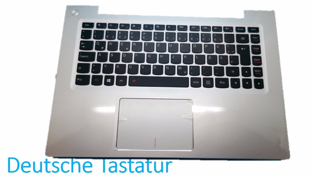 цена на Laptop PalmRest&keyboard For Lenovo U430P U430T U430 Touch Germany GR With Touchpad Silver  Black New Original