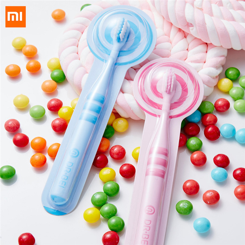 Xiaomi DOCTOR-B Cute 2PCS Toothbrush Replacement Heads For Children Kids Oral Hygiene Toothbrushes Head image