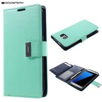 Mercury GOOSPERY Rich Diary Wallet Leather Case Cover For Samsung Galaxy S7 S6 S5 S4 S3