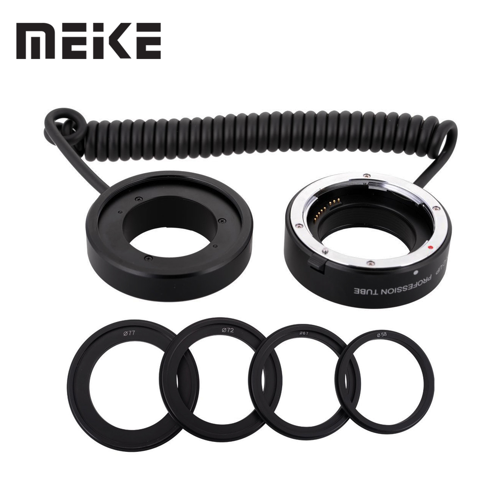 Meike Electronic-macro Auto Focus Extension Tube & AF Confirm Reverse Adapter Ring Suit for Canon 5D II III 6D 7D 50D 60D 600D electronic af confirm m42 mount lens adapter for canon eos 5d 7d 60d 50d 40d 500d 550d 600d rebel t2i t3i 1100d