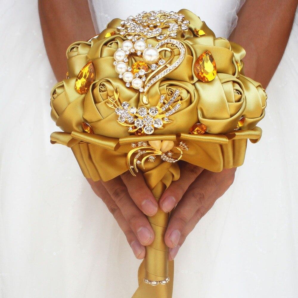 Bridal Crystal Silk Flowers Bridal Bouquets 1