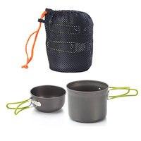 Новый антипригарный кастрюли миски портативный Открытый Кемпинг походный набор для приготовления пищи посуда хорошее качество