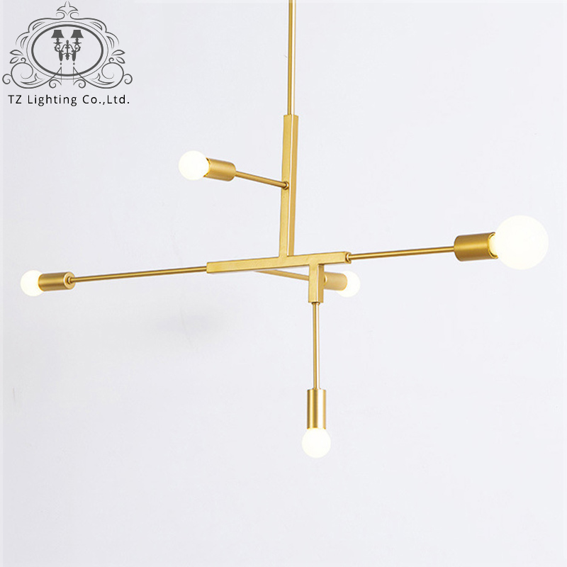 TZ Modern Creative LED Pendant Lights Black Golden Iron Lustre hanging lamp For Dining Room Parlor Restaurant hanglamp touw modern guard dining room pendant lights white black golden silver lamp