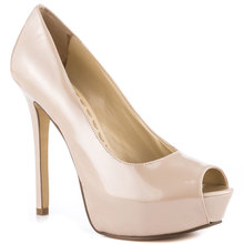 Ivory Patent Leather Peep Toe High Heels Stilettos Slip ons Women Pumps OL Shoes Women Ladies