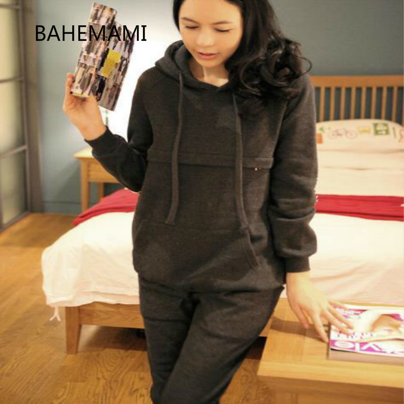 BAHEMAMI Fashion Maternity pregnancy clothes Autumn And Winter Fashion Long Sleeve breast-feeding pregnant pants fashion cotton padded maternity shirts autumn winter fashion thick knitted long sleeve pregnancy tops loose maternity clothes