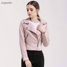 Brand Motorcycle PU Leather Jacket Women Winter And Autumn New Fashion Coat 4 Color Zipper Outerwear jacket 2018 HOT