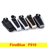 Original Fineblue F910 Mini Portable Wireless Bluetooth Earphone Headset For Phone In Ear With Collar Clip