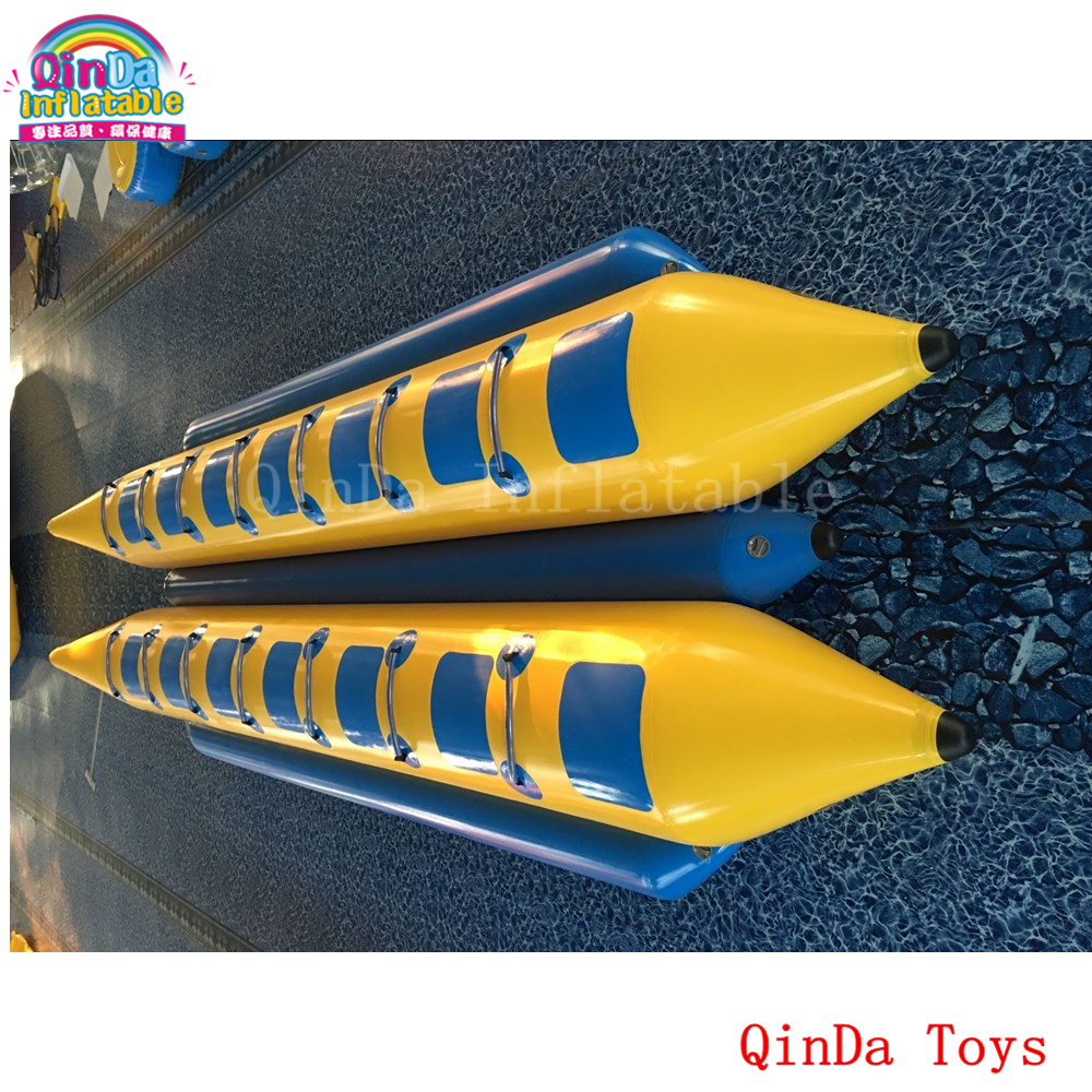14 persons pontoon boat inflatable fly fish,double tubes inflatable flying banana boat for sale single inflatable flying fish towable tube inflatable flyfish banana boat water fun toy