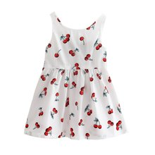 Baby Girls Cotton Vest Dress Kids Sundress Princess Shirt Dresses K08