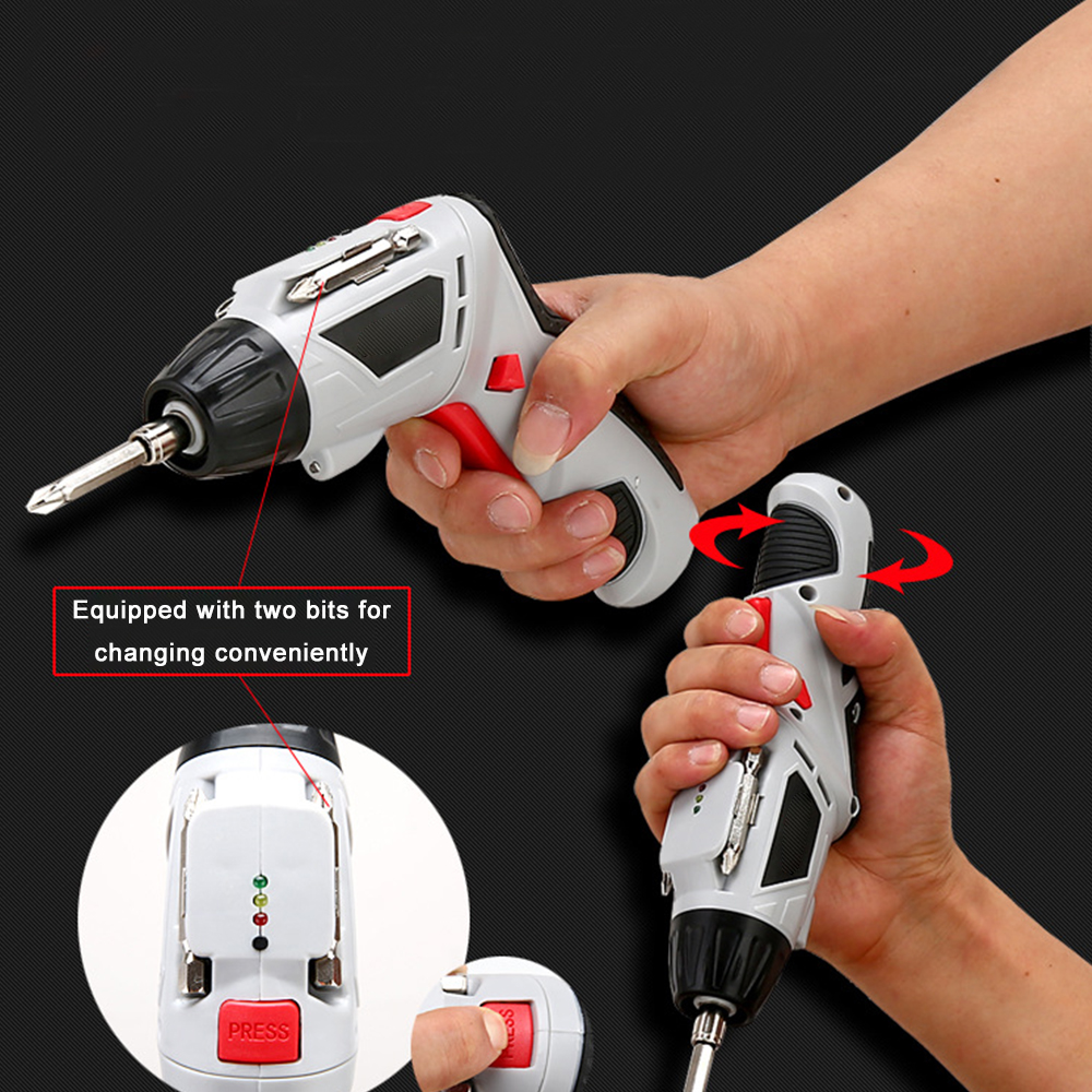 EU Plug 4.8V Mini Electric Screwdriver Drill Rechargeable Cordless Screwdrivers Lithium Battery Household DIY Tools Sets P20 4 8v mini electric screwdriver drill rechargeable cordless screwdrivers lithium battery household diy tools sets