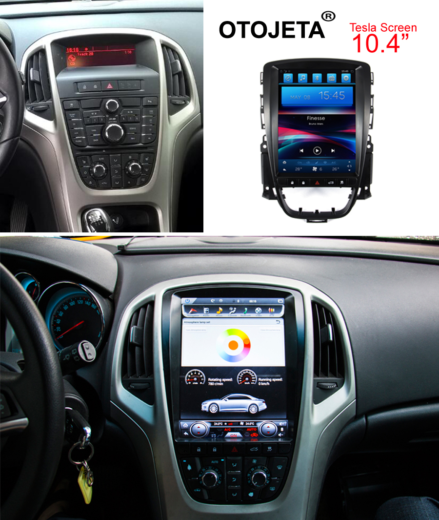 Otojeta vertical screen tesla quad core 32gb rom Android 7.1 Car Multimedia GPS Radio player for opel astra J cd300 cd400 2010