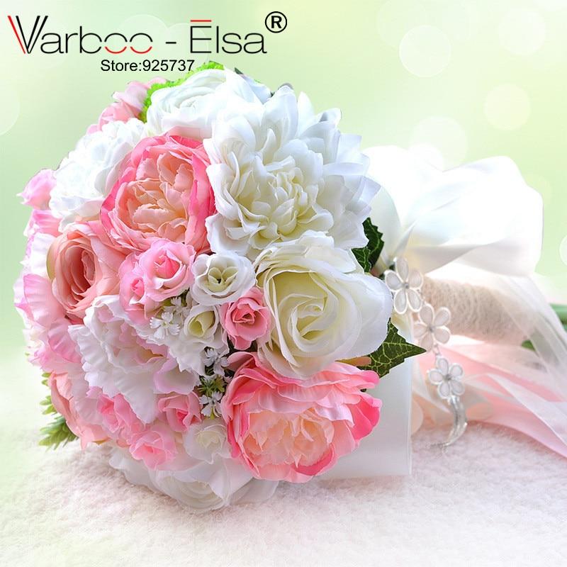 Ramo De Flores Novia Rosa White Beach Hochzeitsblumen Brautstrausse