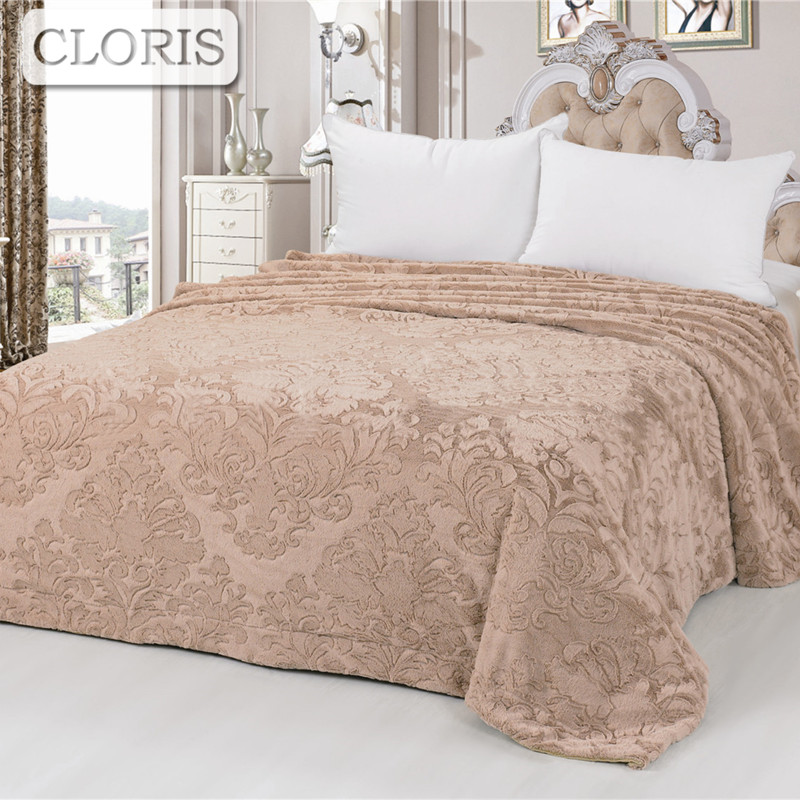 CLORIS Moscow Deliver Luxury Brand Comfortable Blanket Sofa Plaid Throws Coral Travel Quilt Cover Bedding Bedspreads King Size outlet cotton wool blended classic triangles travel home picnic throws blanket bedspread summer quilt