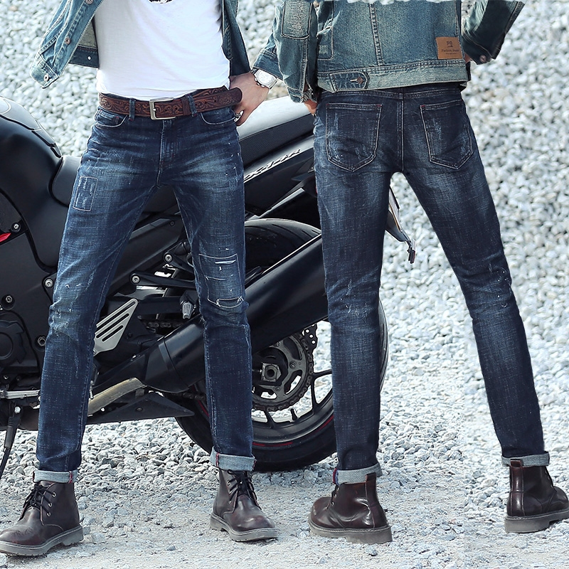 ФОТО HOT selling Top designer famous brand upscale cotton men jeans pants, European and American style biker jeans male