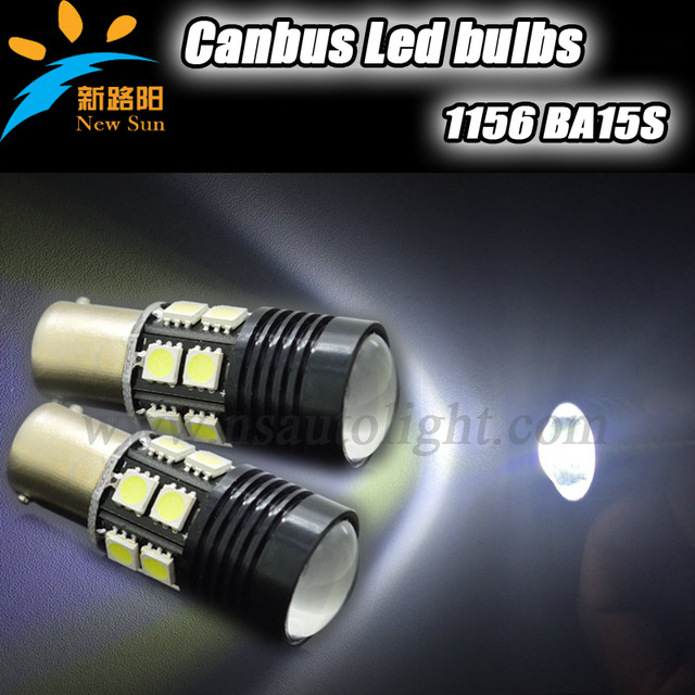 Error free canbus Projector White 12 LED 5050 Backup Reverse Light Bulb BA15S 1156 P21W S25 Auto Car Lamps with lens ruiandsion 2x75w 900lm 15smd xbd chips red error free 1156 ba15s p21w led backup revers light canbus 12 24vdc
