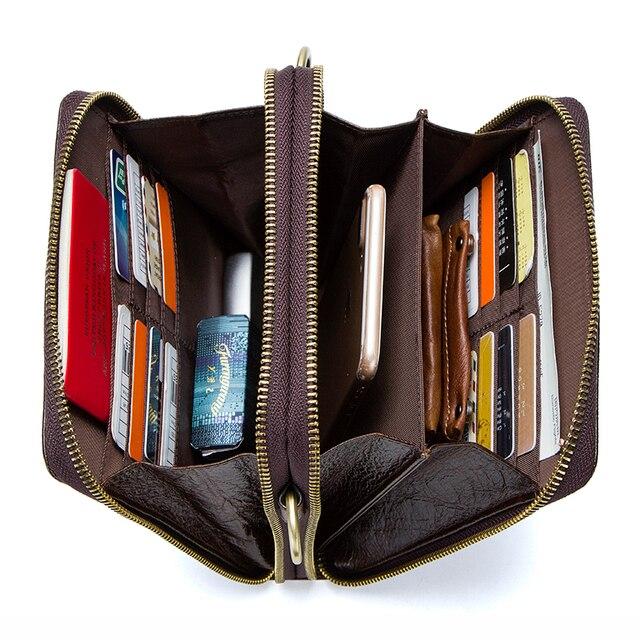 Top Quality Men Messenger Shoulder Bag Genuine Leather Vintage Men's Crocodile Crossbody Bag With Card Holder Mobile Phone Pouch 2