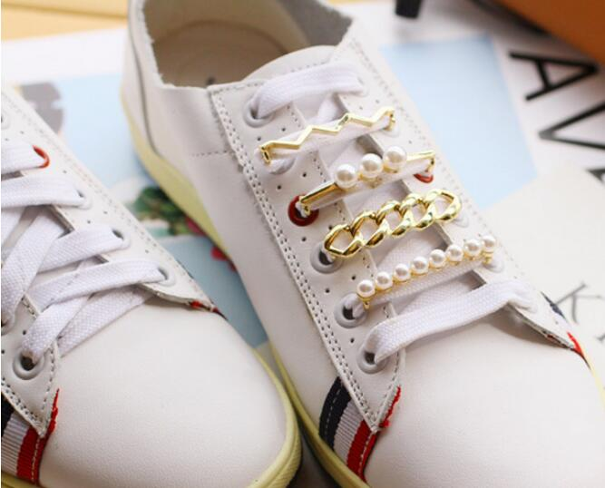 Free Shipping 9PCS DIY Women Shoe Decorations Pearl Rhinestone Shoes  Accessories for Casual White Shoes-in Shoe Decorations from Shoes on  Aliexpress.com ... 19c0700a790e