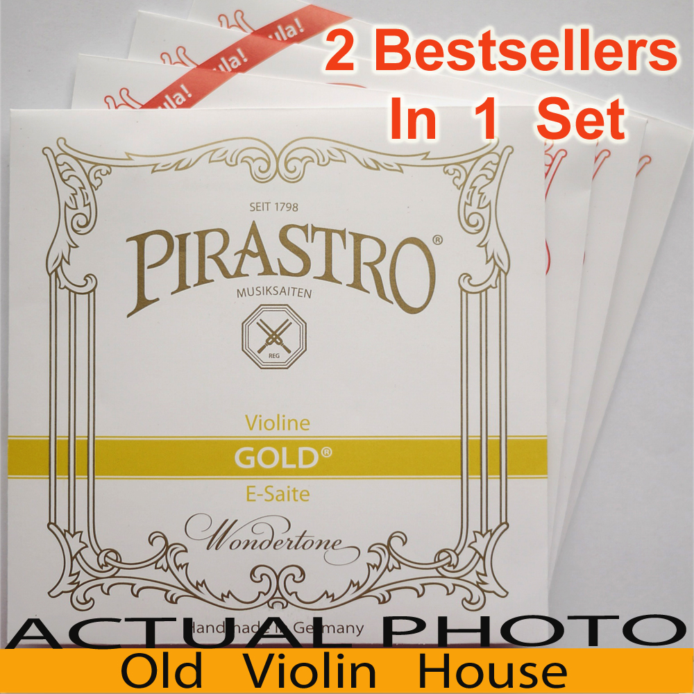 Pirastro Tonica Nylon Violin Strings (412027), 2 Best Sellers In One Set ,made In Germany,Hot Sell